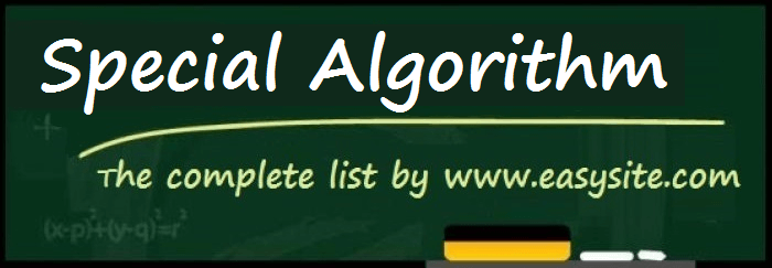 special algorithm rules
