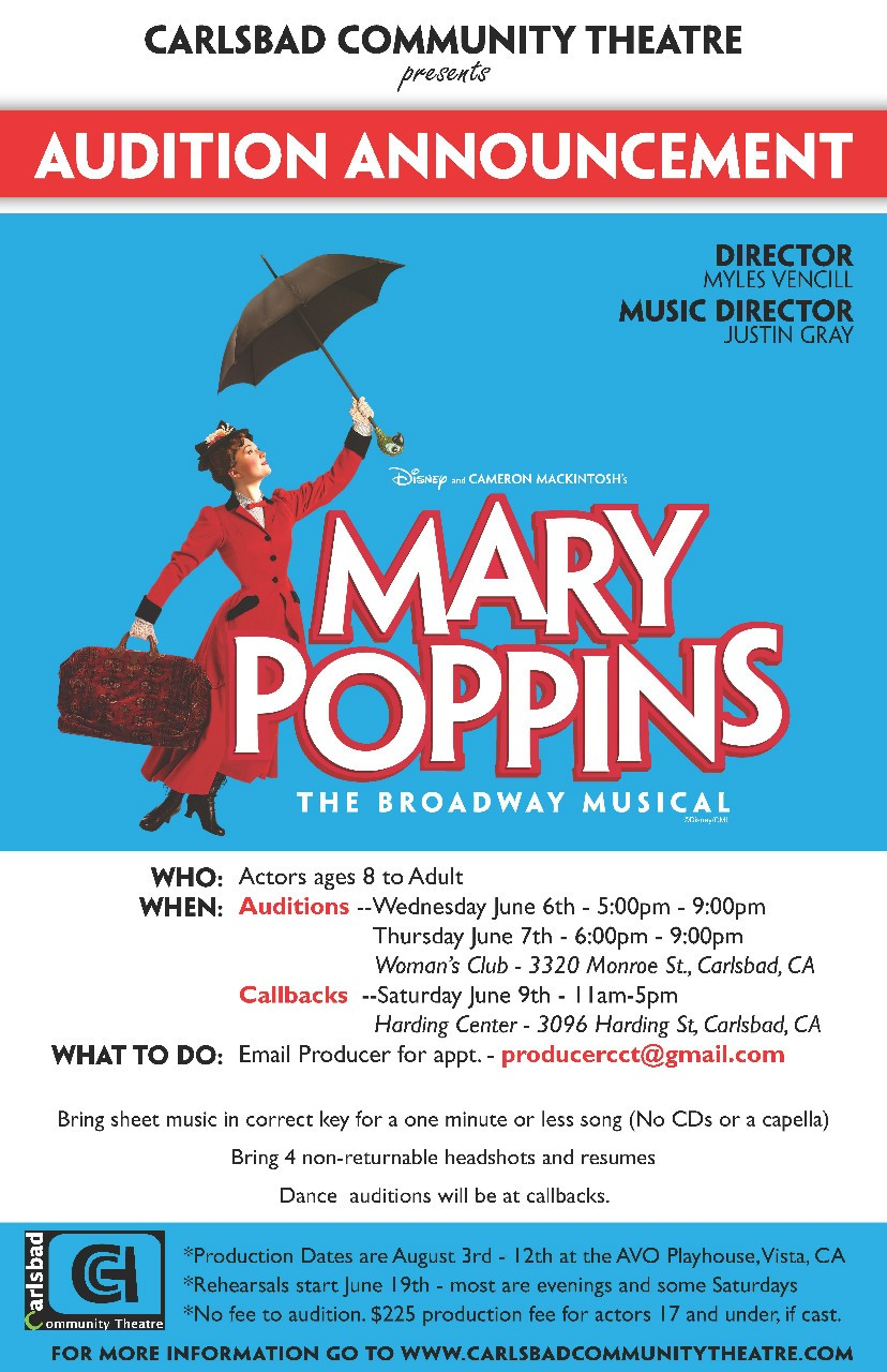Carlsbad Community Theatre - Auditions & Classes - Mary