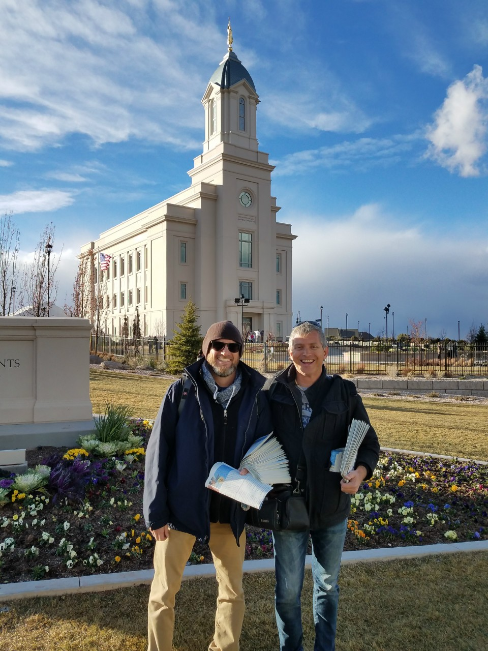 James Hazelton and Rob outside the Cedar City Temple