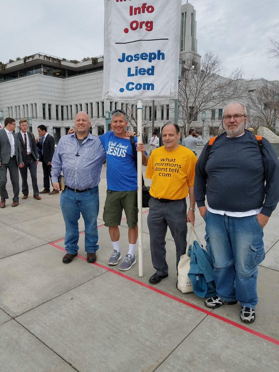 Keith Riley, Rob Sivulka, Joe Bei, and Kevin Deegan at General Conference