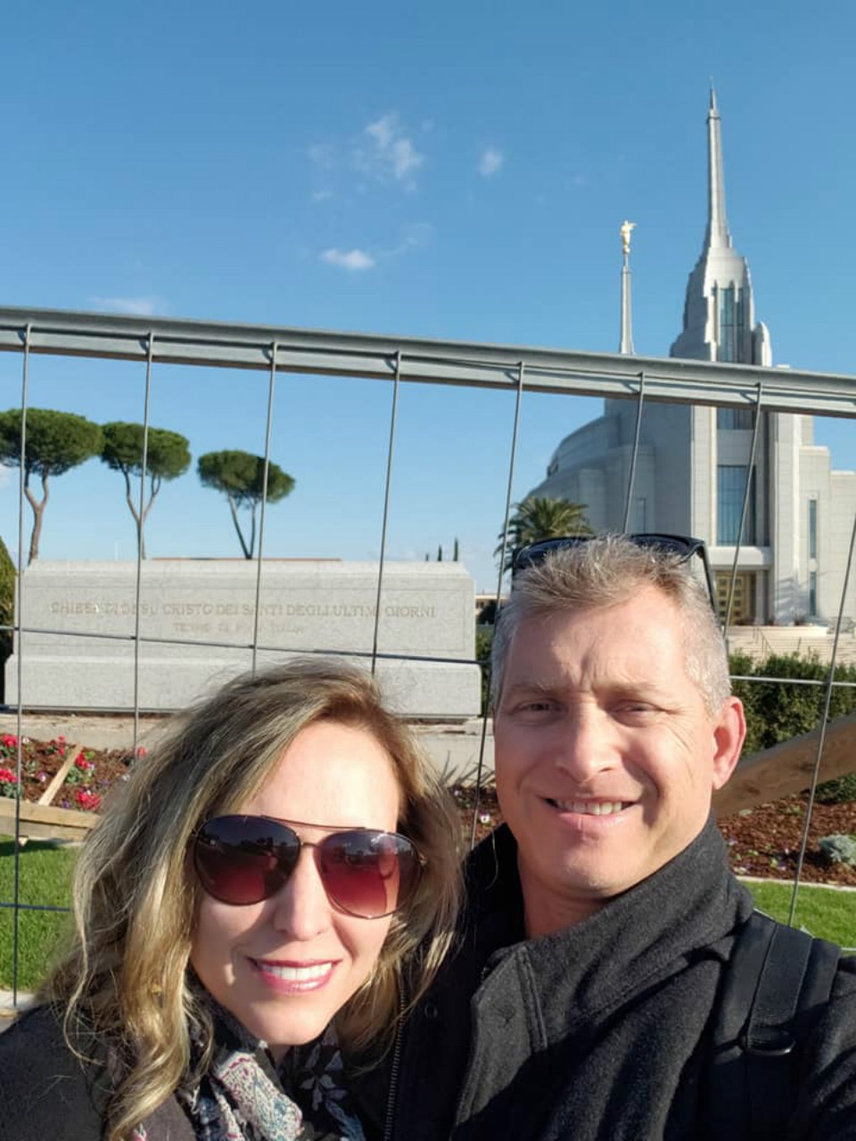 At the Rome LDS Temple