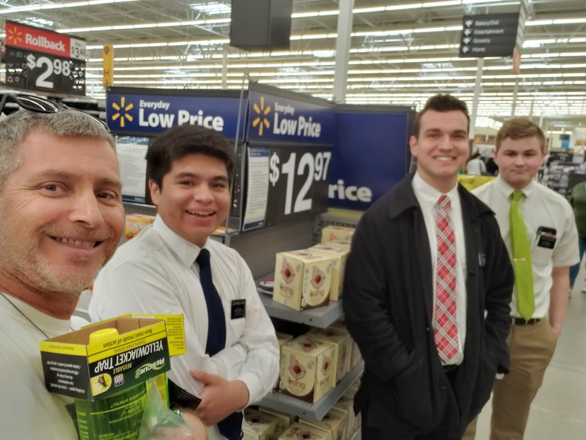 Rob with LDS missionaries