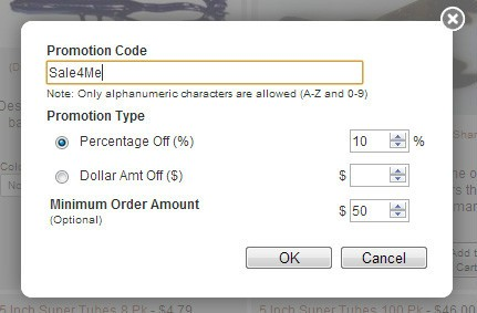 Create a Promotion Code for Online Store