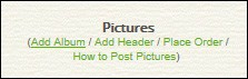 post images on your site using easysite's web site builder