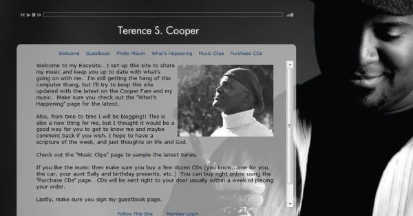Terence Coopers Music Website