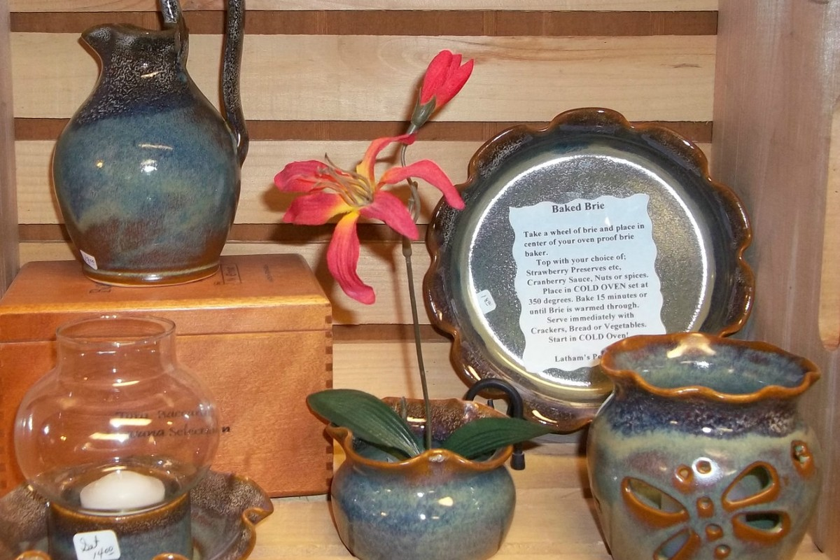Antique Blue Gift Items Brie $20.00 Rebekah Pitcher $20.00, Iebana $14.00 Sm Candle Cup $14.00 Lamp SOL OUT