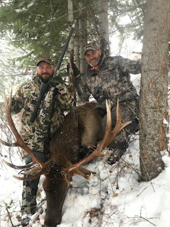 Robert Works first elk with our custom carbon lite