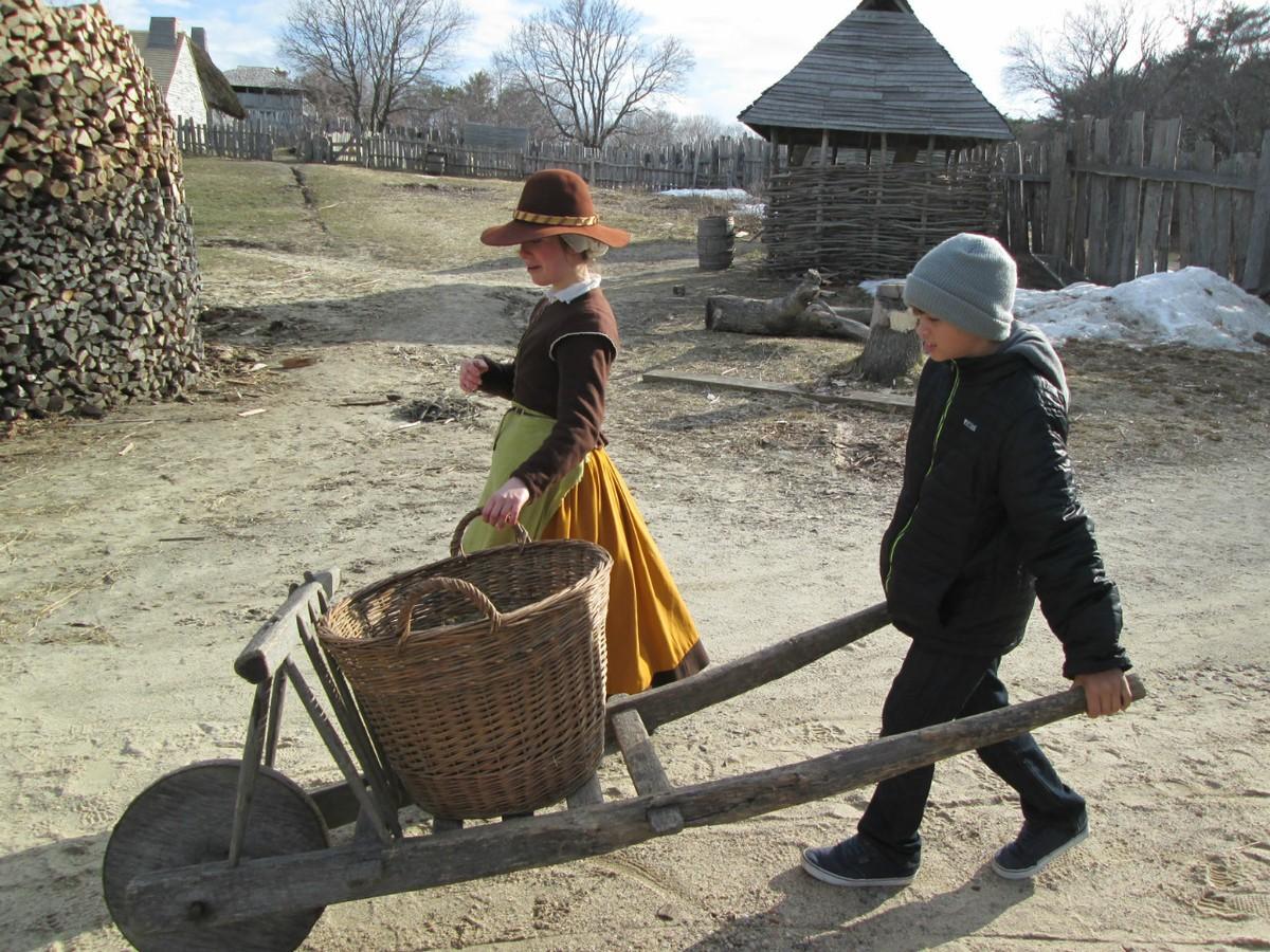 Living history program at Plimoth Plantation