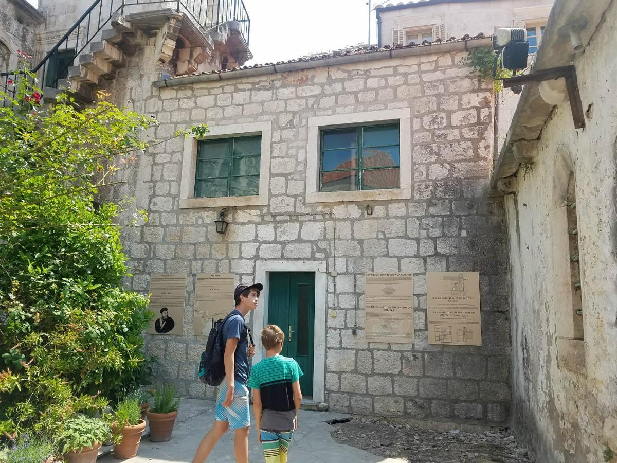 Marco Polo House in Korcula, Croatia