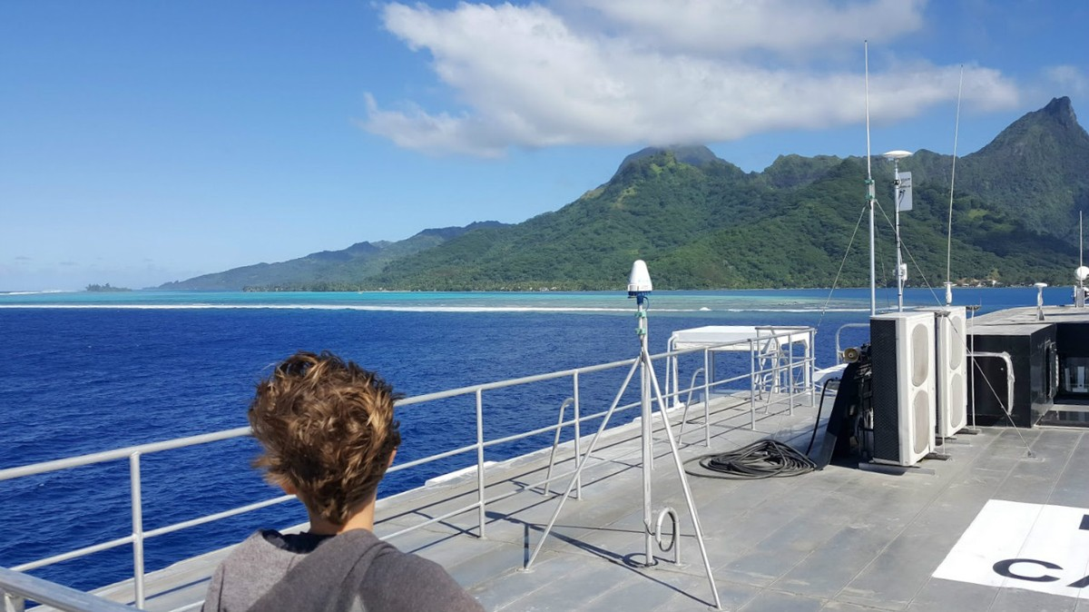 30 minutes later, arriving in Moorea
