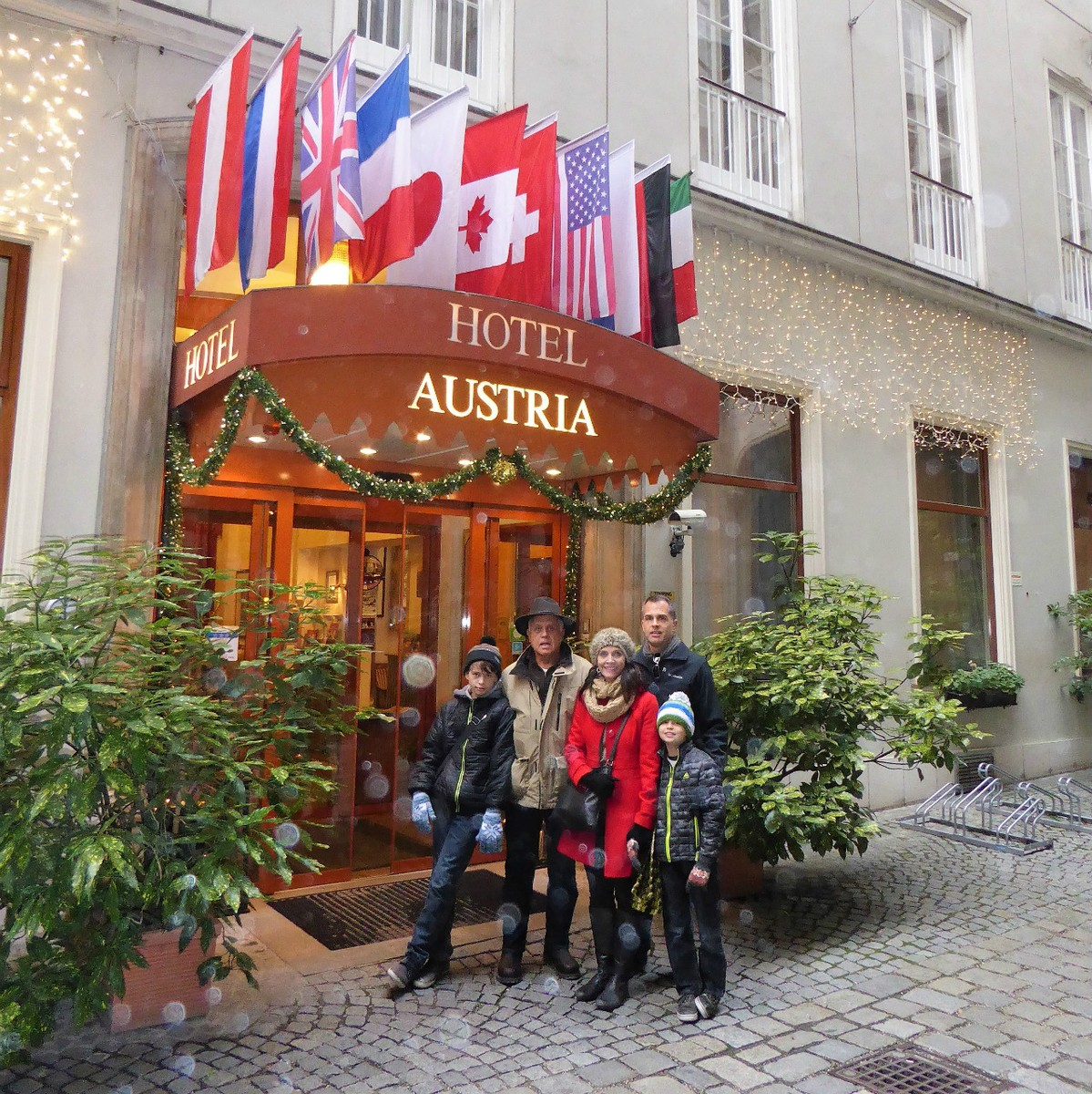 Our family at Hotel Austria