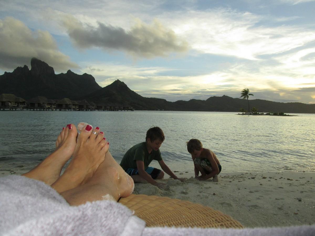 Sunset at Four Seasons Bora Bora