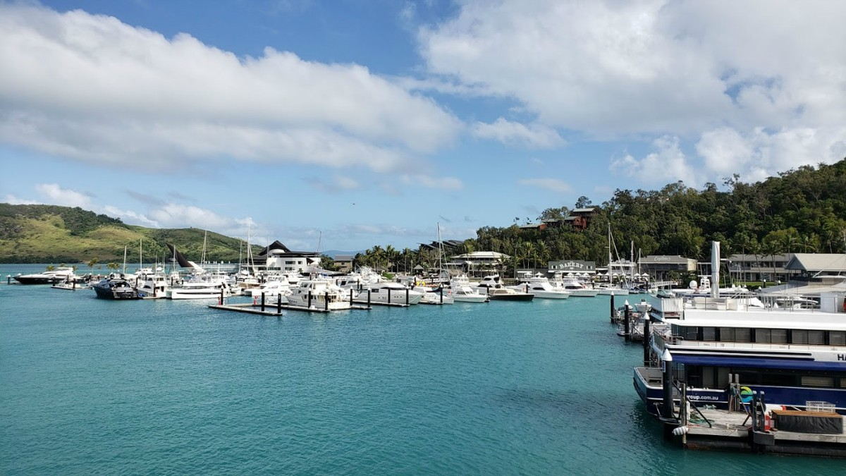 A quick stop at Hamilton Island to pick up more passengers