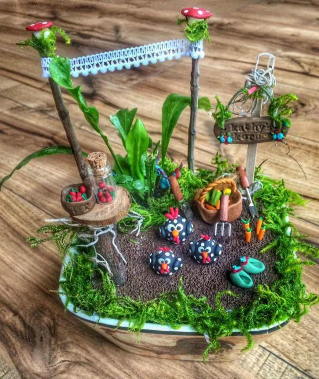 Custom Kitchen Rooster Garden