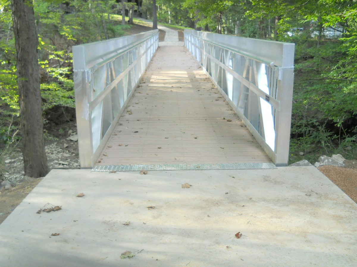 Aluminum Trail Bridge for Broken Arrow, Oklahoma Lodge Creek Trail Bridge Project