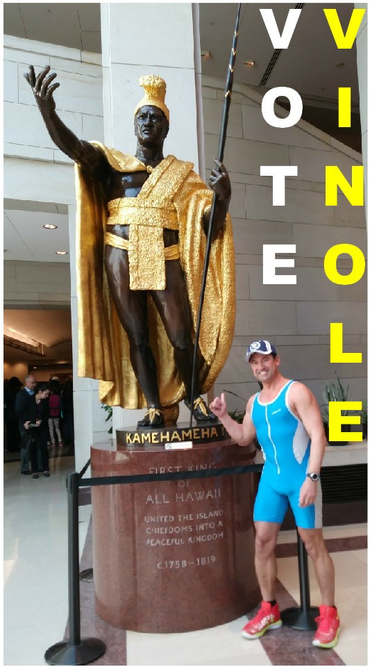 KING KAMEHAMEHA I & RAYMOND RENE VINOLE AT THE U.S. NATIONS CAPITAL IN WASHINGTON D.C.
