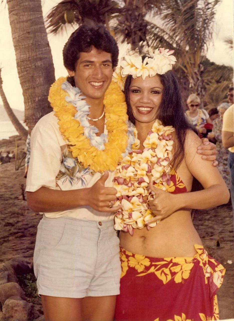 RAYMOND RENE VINOLE VISITING HOLOLULU, HAWAII IN 1983 AT THE AGE OF 18