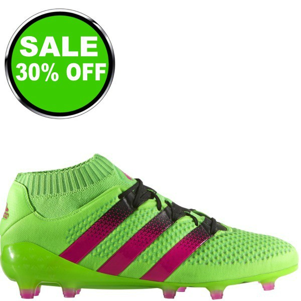 ac9a5abf305 adidas ACE 16.1 Primeknit FG AG Solar Green Shock Pink Black Soccer cleats  - model AQ5151