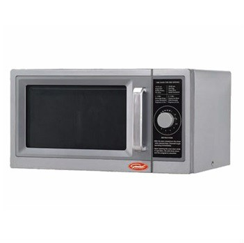 The General Commercial Microwave Oven GEW 1000D features dial controls for quick and easy cook time adjustments in the busy kitchen. 1000 watts, 1 cubic feet capacity. LED display, single power level. Stainless steel exterior and interior with heavy duty metal handle and a durable interlock system. ETL, cULus listed.