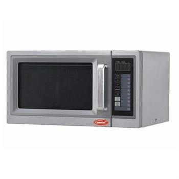 The General Commercial Microwave Oven GEW 1000E features digital touch pad controls and 3 stage cooking capabilities. 1000 watts, 1 cubic feet interior capacity. Up to 10 power levels. The three stage cooking features allows you to program up to three stages of continuous cooking. Stainless steel exterior and interior with heavy duty metal handle and a durable interlock system. LED display. ETL, cULus listed.