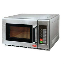 Rapidly cook and reheat food with the General Commercial Microwave Oven GEW 1100E that features digital touch pad controls and 1100 watts of power with up to 10 power levels and 100 programmable menu settings. 1.2 cubic feet interior capacity. Stainless steel exterior and interior with heavy duty metal handle and a durable interlock system. One touch time settings from 10 seconds to 3.5 minutes. LED display. ETL, cULus, CE listed.