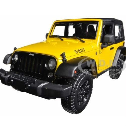 Brand new 1:18 scale diecast model car of 2014 Jeep Wrangler Willys. Very popular.