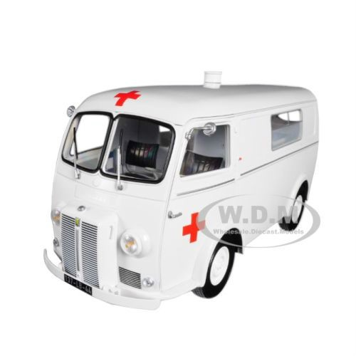 Brand new 1:18 scale diecast car model of 1963 Peugeot D4B Ambulance.
