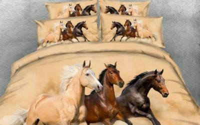 Our 3D horse printed bedding set will turn your bedroom into a relaxing heaven.