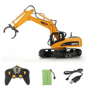 HUINA TOYS 570 2.4G 16CH RC Excavator Timber Grab Crawler Truck Engineering