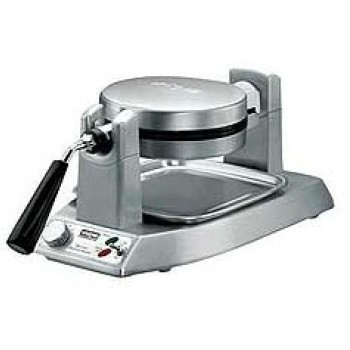 Waffle Maker, single, up to (25) 1-1/4 thick waffles per hour, rotary feature, embedded heating element, non-stick plates, heavy duty die cast housing, extra -deep drip-pan, 120v/60/1-ph, 1200W, 10amps, NEMA 5-15P, NSF, cETLus listed.
