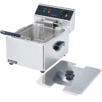 This NSF fryer is constructed of heavy duty stainless steel for durability. Includes a heavy duty fryer basket and cover. Temperature control switch adjusts from 120 to 375F. Fryer tank has a capacity of 6 liters and lifts out for easy cleaning. It will pass inspection in your restaurant. Good for adding additional products to your menu.