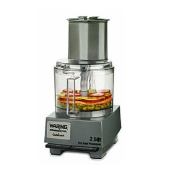 The Waring WFP11S Electric Food Processor has a heavy-duty 3/4 HP high performance motor and a large 2.5 quart unbreakable polycarbonate work bowl with extra large feed chute. Slice, Shred, Grate, Mix, Puree and Chop directly in the batch bowl! Hurry limited stock.