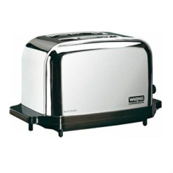 The Waring chrome 2 slice capacity commercial toaster Model WCT702 features chrome-plated steel construction. Find out more.