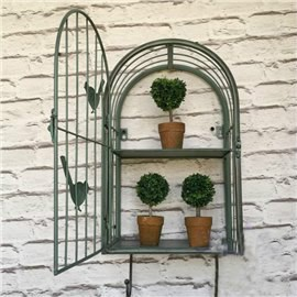 Green Iron Birdcage Shape Flower