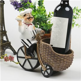 Lovely Resin Chef Riding a Bike