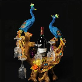 Beautiful Peacock Wine Rack