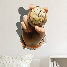 Creative Baseball in Hand Design Wall Clock