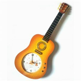 Classic Guitar Design Plastic Decorative Wall Clock