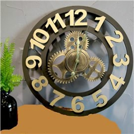 Vintage Industrial Look Gear Design Wall Clock