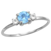 Ladies 10 Karat White Gold Choose Your Stone Ring For Valentines Day