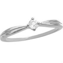 Ladies White Gold White Topaz Ring Ideal Valentines Gift