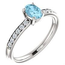 10 Karat White Gold Choose Your Stone Oval 6 x 4mm Gemstone Ring