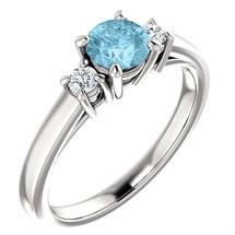 14 Karat White Gold Choose Your Own 5mm Gemstone Ring