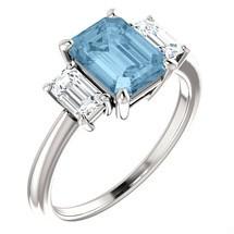 14 Karat White Gold Choose Your Stone 8 X 6mm Gemstone Ring