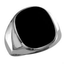 Men's Genuine Sterling Silver High Polish Onyx Ring