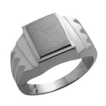 Men's Multi-Texture 10 Karat White Gold Ring