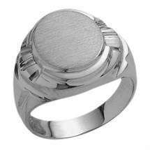 Men's Designer Oval 10 Karat White Gold Ring