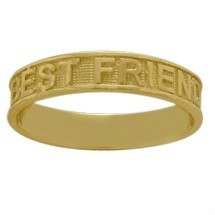Yellow Gold Best Friends Valentine Expression Ring