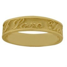 Yellow Gold I Love You Expression Valentines Day Ring