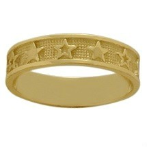 Yellow Gold Valentine Day Seven Star Expression Ring